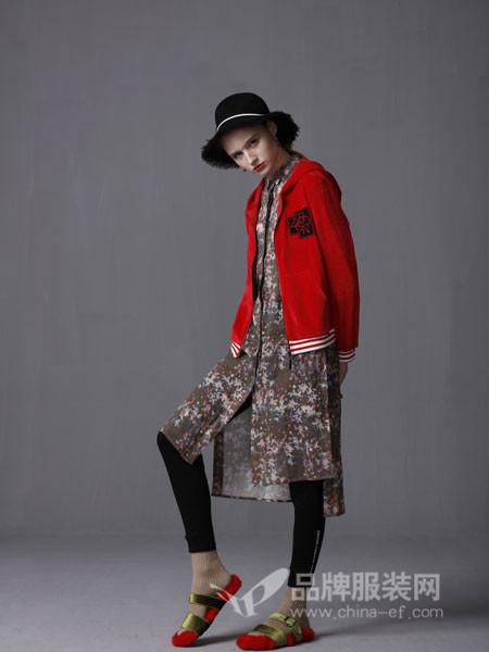 ZIRONG子容女装2018秋季休闲连帽棒球外套