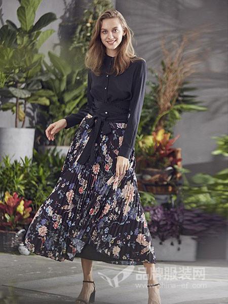 艾米尔女装2018夏季时尚半身裙