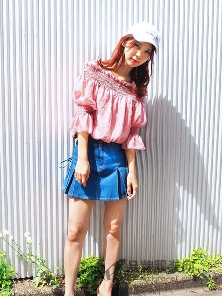 NiceClaup女装2018夏季超短裙