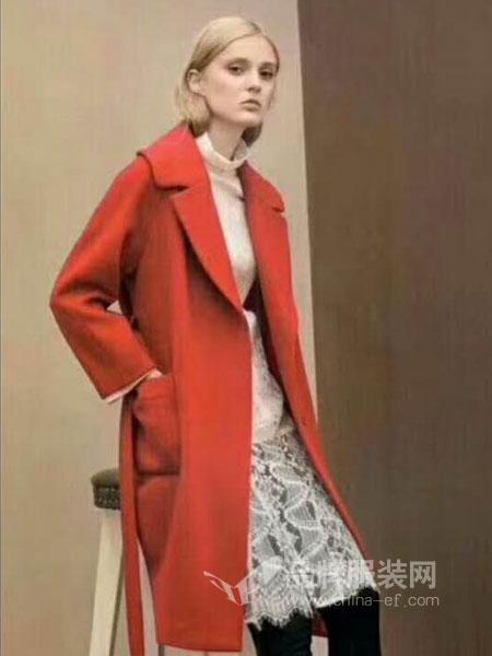 女神面对面女装2018秋季新款女装宽松显瘦加厚呢子大衣