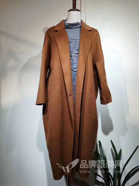 女神面对面女装2018秋季韩范时尚宽松长袖开衫百搭羊绒双面呢外套