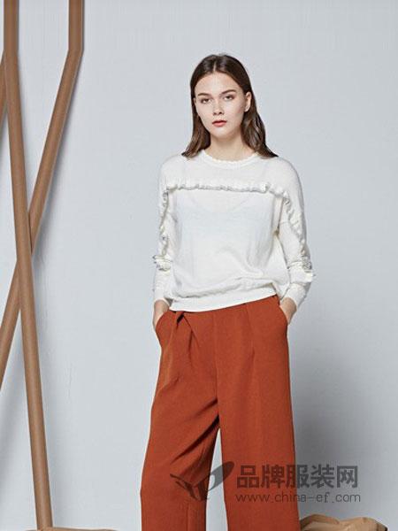 摩萨克MichelleMoissac女装2018秋冬新款韩版长袖套头针织衫