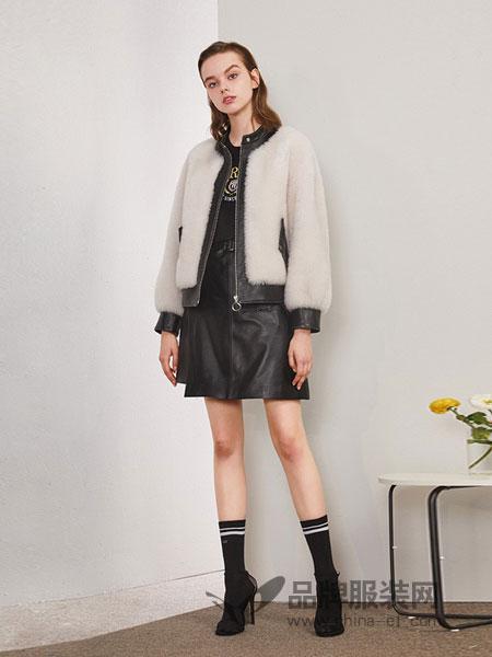 薇薇卡女装2018秋冬短款韩版羊毛皮草外套新款立领羊剪绒大衣