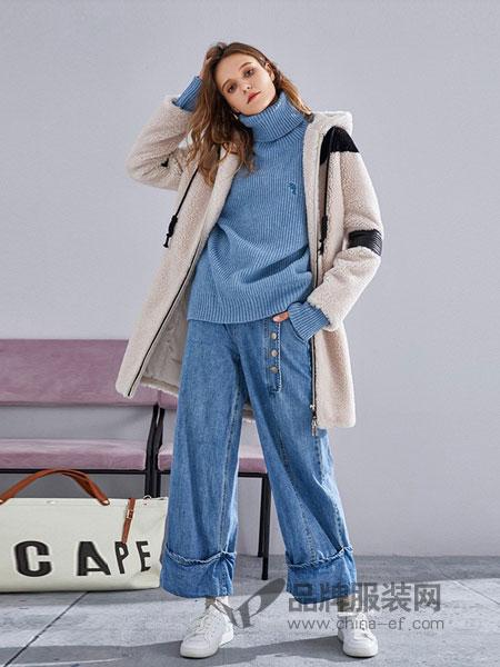 薇薇卡女装2018秋冬修身打底衫高领衫紧身高领针织衫