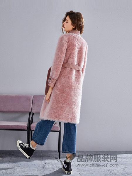 薇薇卡女装2018秋冬中长款时尚气质名媛羊羔毛大衣
