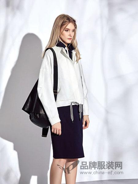 意澳女装2018秋冬新品时尚廓形抽绳飘带涤纶短款外套