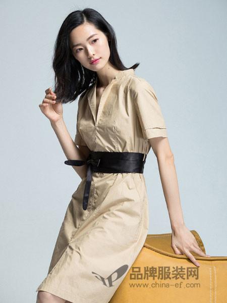 优衣美女装2018秋季时尚修身V领连衣裙