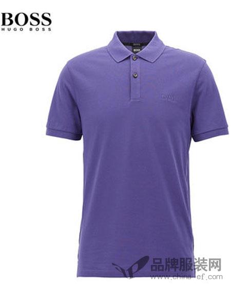 HUGO BOSS男装2018春夏男士商务休闲凸纹布常规版短袖polo衫