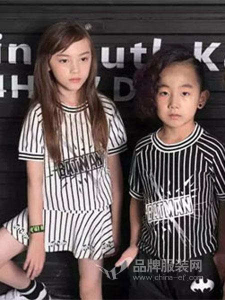 米6童品童装儿童中大童纯棉短袖+半裙竖条套装