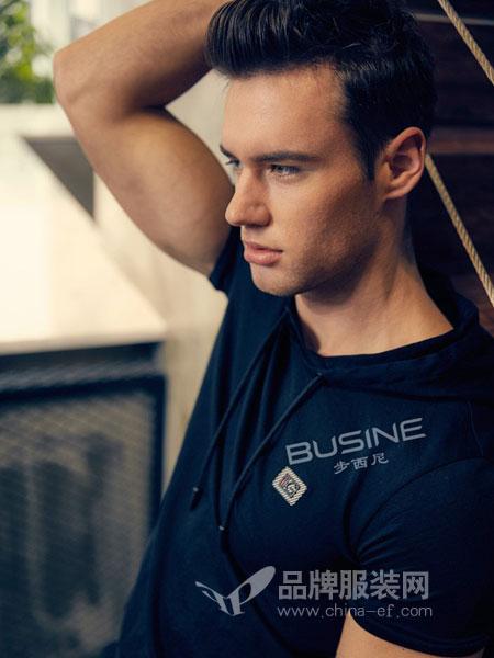 步西尼男装2018春夏立体织带短袖T恤潮织带个性
