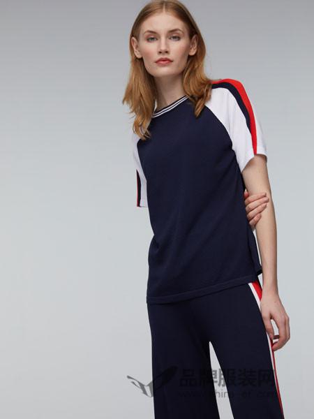 玛革诺施女装2018夏季圆领T恤