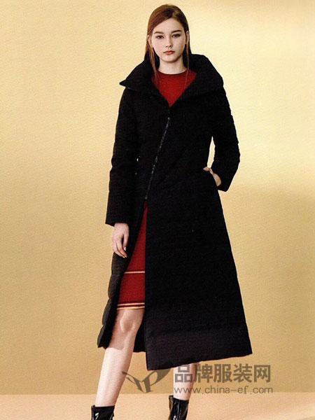 季歌品牌折扣女装女装2018秋冬新款 羊毛皮毛一体腰侧真羊皮显瘦中长款外套