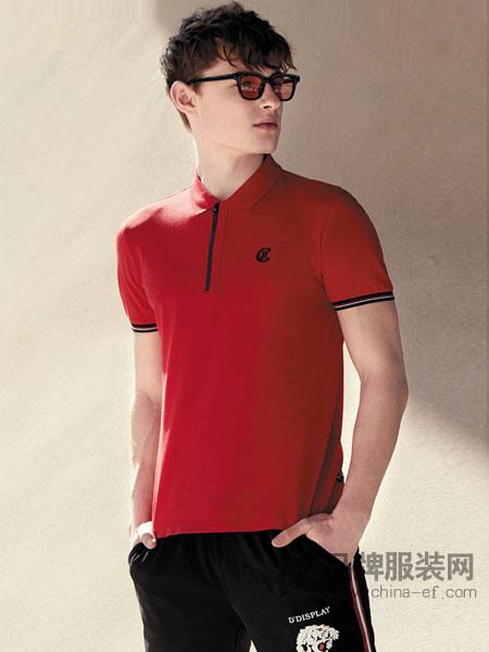 杰克斯男装2018春夏男装棉质薄款都市运动短袖T恤