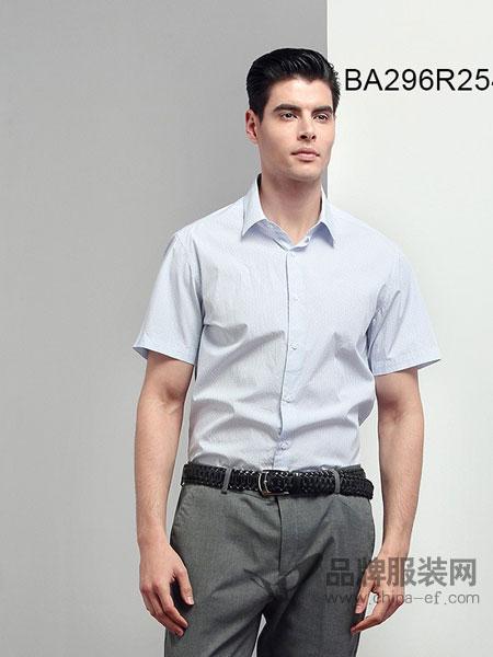 JAMES KINGDOM男装2018春夏短袖衬衫夏季男士商务休闲衬衣