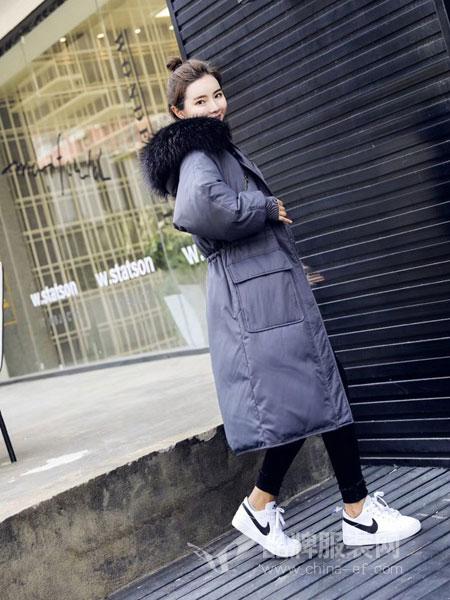 玛吉娜女装2018秋冬宽松显瘦冬季保暖加厚羽绒服外套潮