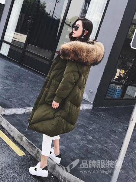 玛吉娜女装2018秋冬宽松显瘦加厚羽绒服外套潮