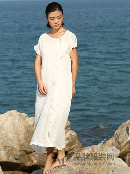 典禾女装夏季圆领宽松长裙