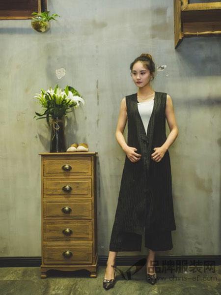 随记女装2018春夏新款桑蚕丝中长款肌理长裙原创中式