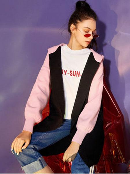 拉夏贝尔女装2018秋季新款宽松时尚显瘦薄开衫