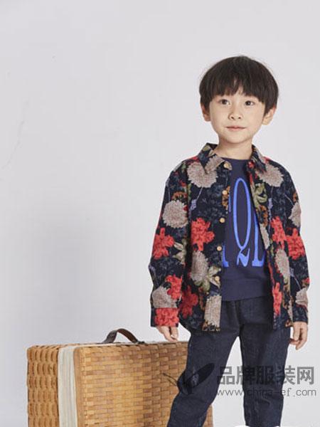 淘气贝贝/可趣可奇/艾米艾门童装2018春夏男宝宝外出衬衣两件套