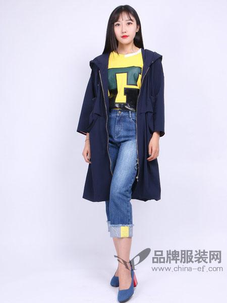 尕尕女装款韩版薄款中长款宽松港风复古外套