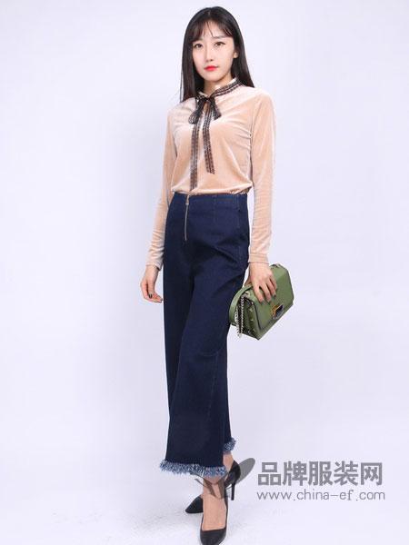 尕尕女装新款雪纺衬衫女长袖韩版系带衬衣