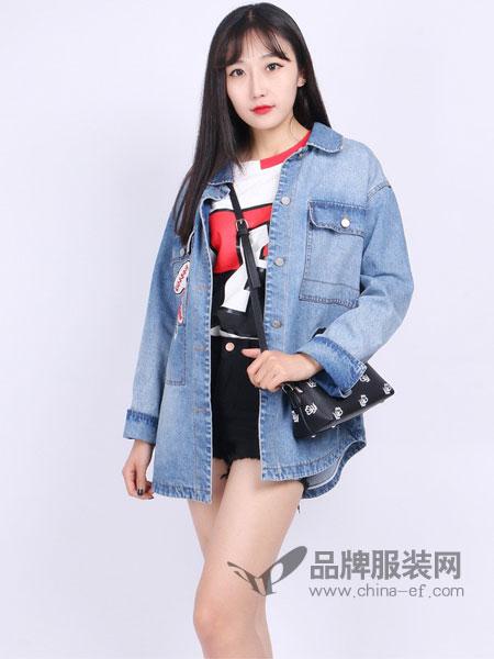尕尕女装牛仔外套女宽松学生韩版bf风百搭新款牛仔衣夹克原宿大码
