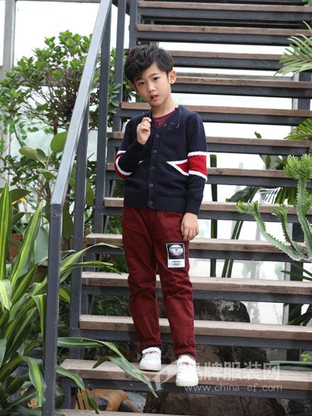 力果童装2018秋季新款韩版男童假两件套T恤儿童休闲套头衫