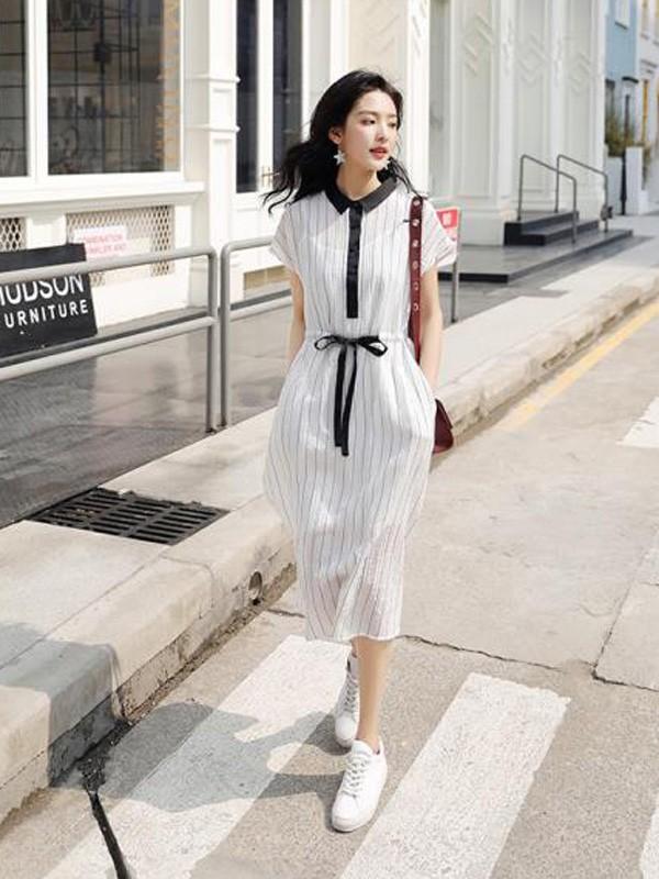 美丽淘女装2018夏季时尚连衣裙
