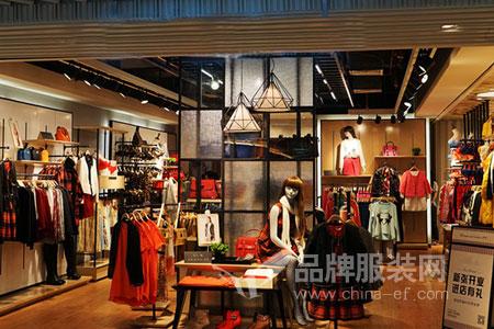 衣佰芬品牌女装店铺展示