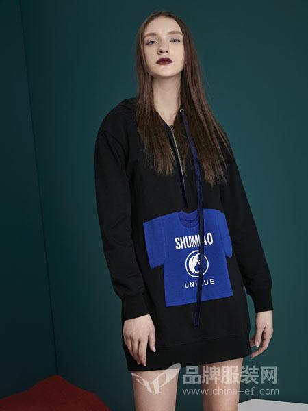 水淼SHUIMIAO女装2018秋季新款微胖洋气时尚卫衣