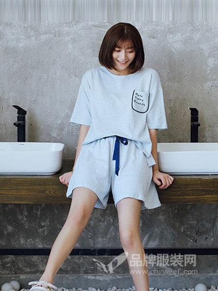 新1系内衣2018春夏短袖两件套韩版纯棉宽松可外穿家居服