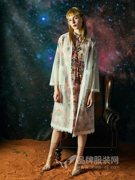 贝洛安女装2018秋冬新款棉麻中国风连衣裙拼接长裙两件套