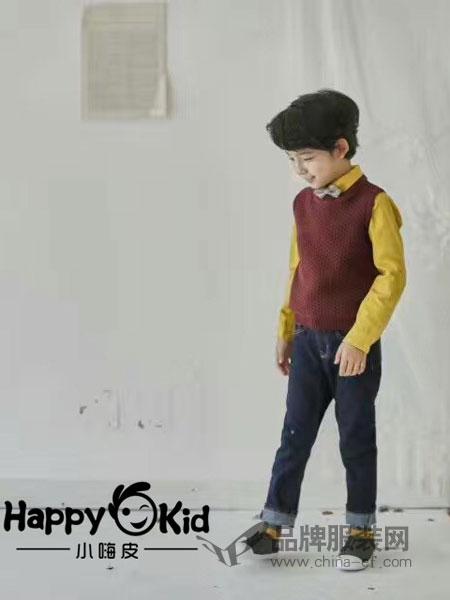 小嗨皮童装2018秋季男童休闲套头针织马甲