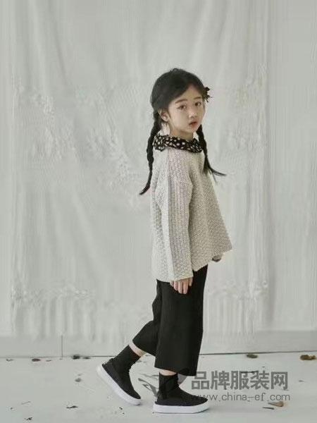 小嗨皮童装2018秋季新款韩版毛衣马甲中长款衬衣打底衫