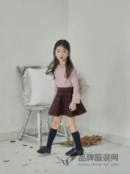 小嗨皮童装2018秋季韩版宽松针织阔腿裤九分裤