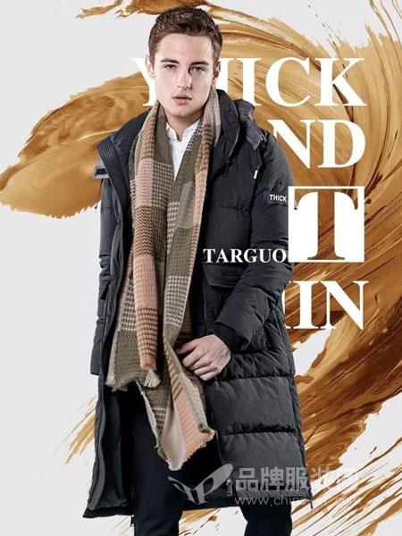 它钴TARGUO男装2018秋冬修身青年呢子大衣外套潮