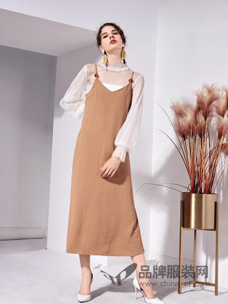 艾丽哲女装2018秋季小女人针织背心连衣裙