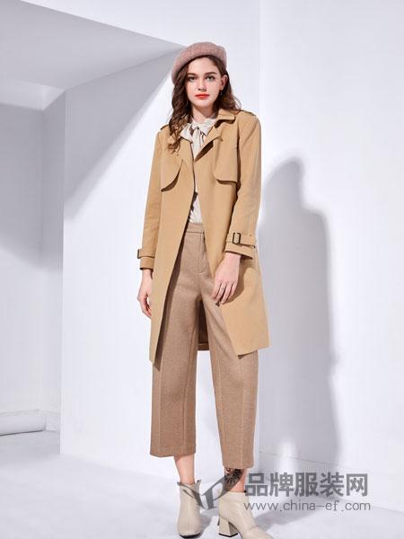 艾丽哲女装2018秋季新款韩版休闲外套端庄大气纯色大衣宽松潮