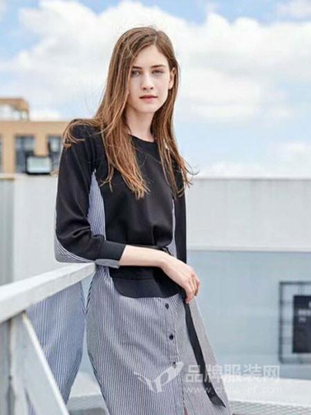 曼朵蒂女装2018秋季裙装假两件