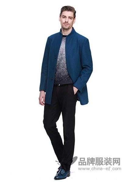STORCEZON斯多塞尚男装2018春夏简约精选针织羊毛男士立领便服