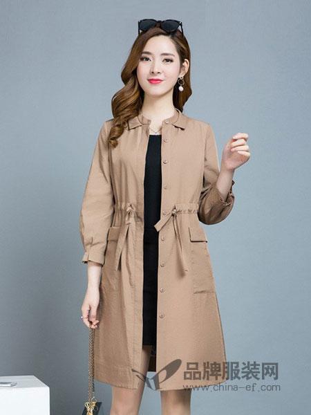贝左女装2018秋冬新款韩版时尚修身百搭收腰系带显瘦薄款外套