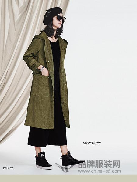 陌心女装秋冬新款风衣外套