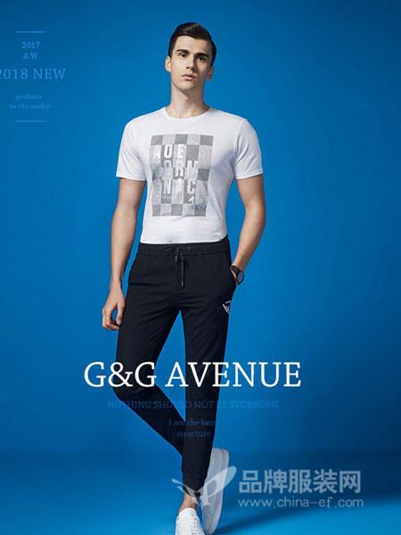 G&GAvenue男装2018春夏圆领T恤