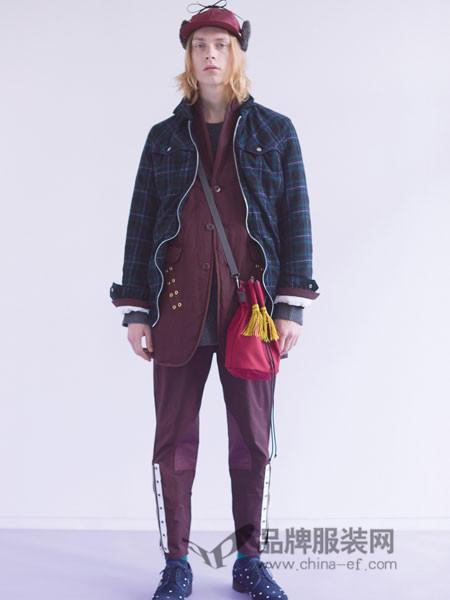 高桥盾男装2018冬季个性格子上衣