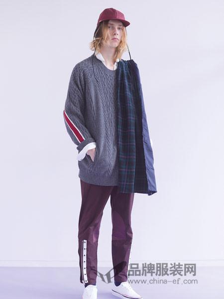 高桥盾男装2018冬季撞色毛衣