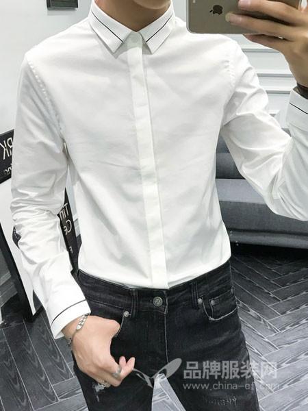 唐森 TANGSEN男装2018秋季衬衫