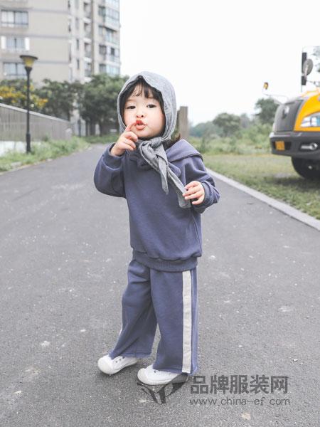 林芊美眉童装2018秋冬儿童金丝绒中大童加绒加厚卫衣两件套