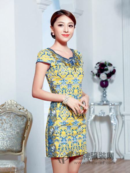 唐雅阁女装2018夏季修身连衣裙