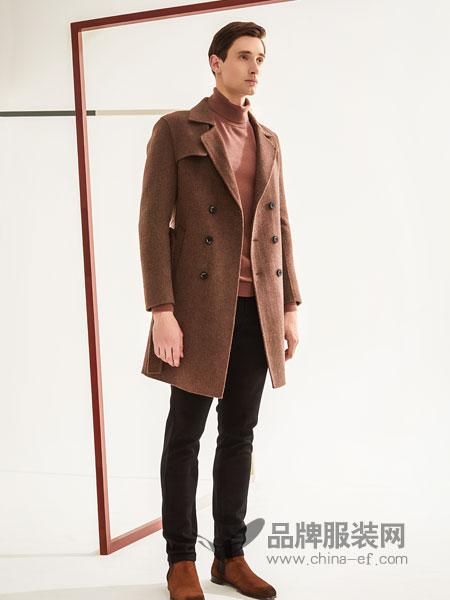 1943S男装2018秋冬新款毛呢外套韩版中长款茧型呢子大衣学生潮